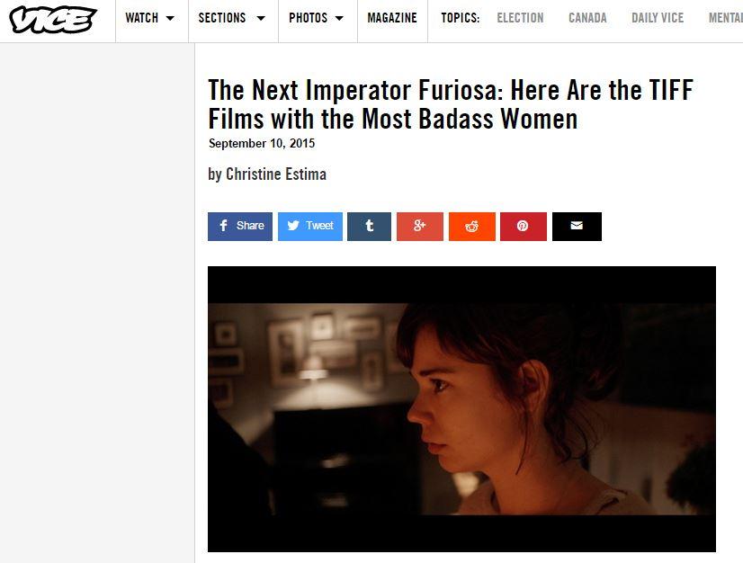 My latest @VICE essay: bad-as-fuck women populate #TIFF15 films